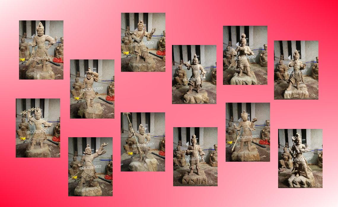 【藥師壇場】 籌建進度 十二藥叉雕像粗胚完成 108年7月上旬